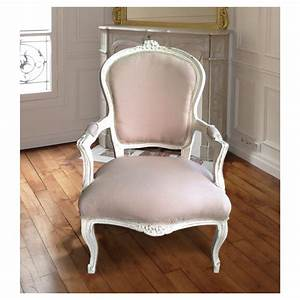 Fauteuil De Style : fauteuil louis xv tissu couleur lin beige et bois beige patin ~ Teatrodelosmanantiales.com Idées de Décoration