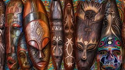 African Wallpapers Painting Masks Backgrounds 1080 1920