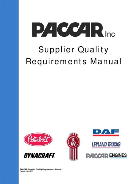 Supplier Quality Requirements Manual 010317 Final Iso