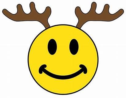 Smiley Face Reindeer Clipart Santa Rudolph Xmas