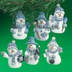 christmas ornaments blue snowmen ornaments