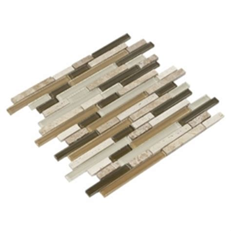 bliss bamboo linear mosaic bliss bamboo glass stone linear blend mosaic tile floor