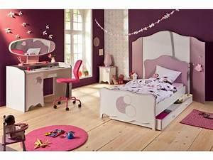 Chambre Bebe Fille Complete : lit 90x190 cm elisa vente de lit enfant conforama ~ Teatrodelosmanantiales.com Idées de Décoration