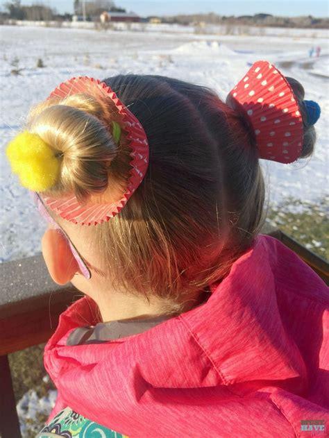 crazy hair day ideas girls cupcake hairdo hair crazy