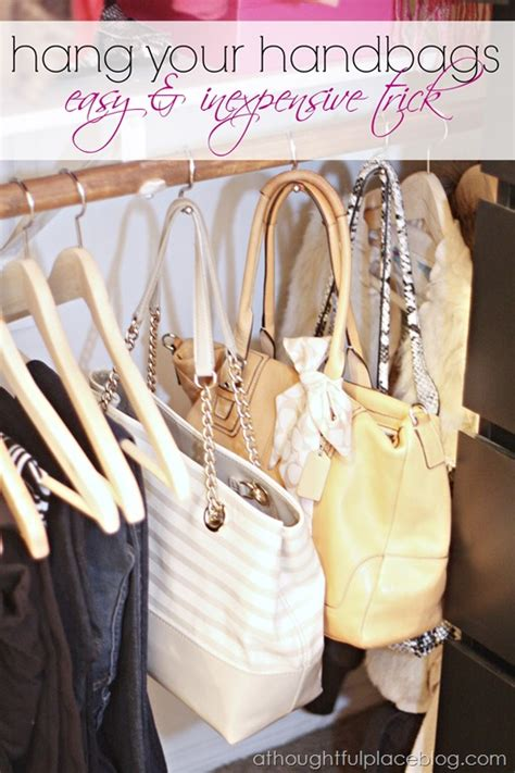 Hanging Purses In Closet by Shower Curtain Ring Organizing Ideas New Uses For Shower