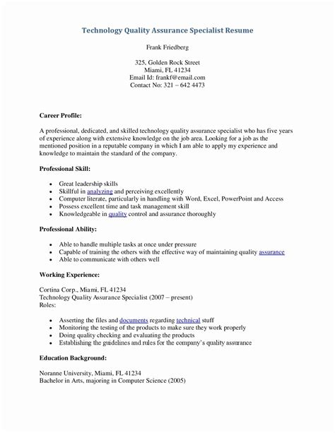manual testing resume sle for experience annecarolynbird
