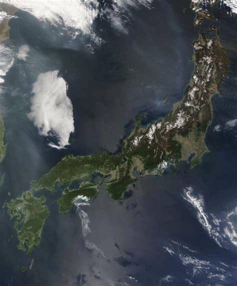 Nasa Visible Earth Japan