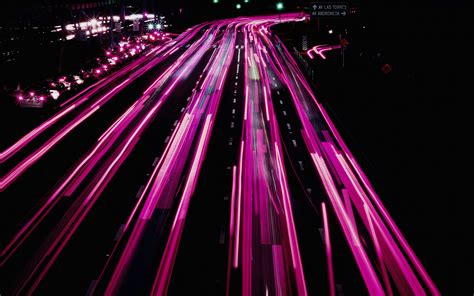 Download wallpaper 1920x1200 road, movement, backlight, turn, night widescreen 16:10 hd background