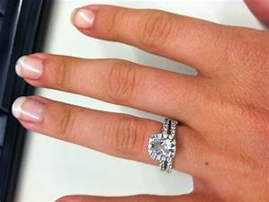 show me your halo engagement ring w wedding band With wedding band to go with halo ring