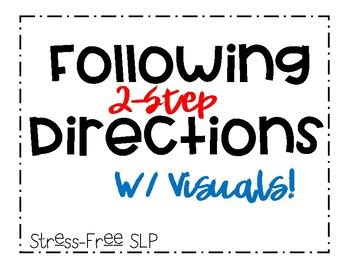 step directions  visuals  stress