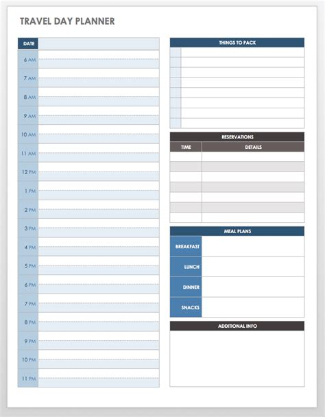 Trip Itinerary Word Template by Free Itinerary Templates Smartsheet