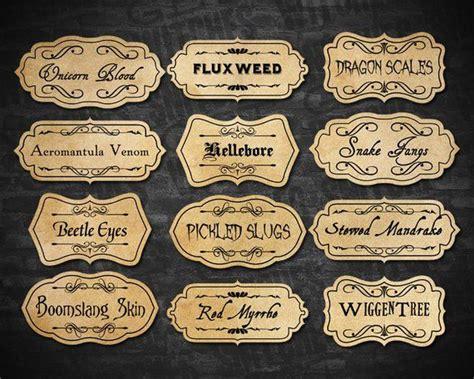 printable potion ingredient labels magic potion