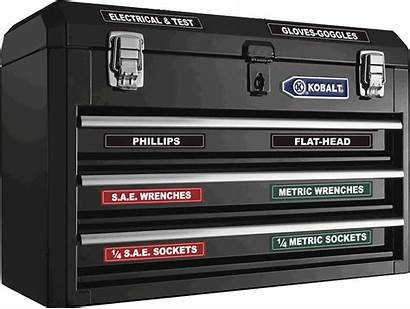 Labels Box Toolbox Tool Magnetic Chest Tools