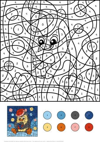 Penguin Color by Number Free Printable Coloring Pages
