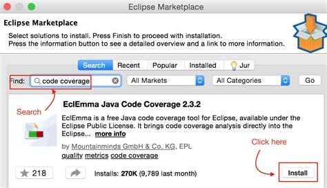 eclipse  eclemma  code coverage plugin complete