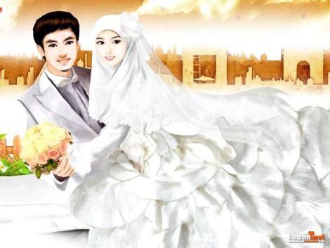 artwork  tema pernikahan  kawan imut