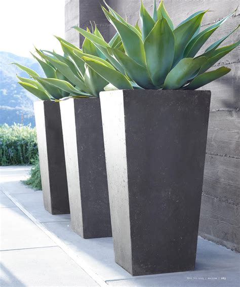 Modern Outdoor Planters by Rh Source Books Gardening Backy