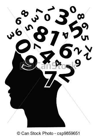 numeri clipart testa numeri umano venuta