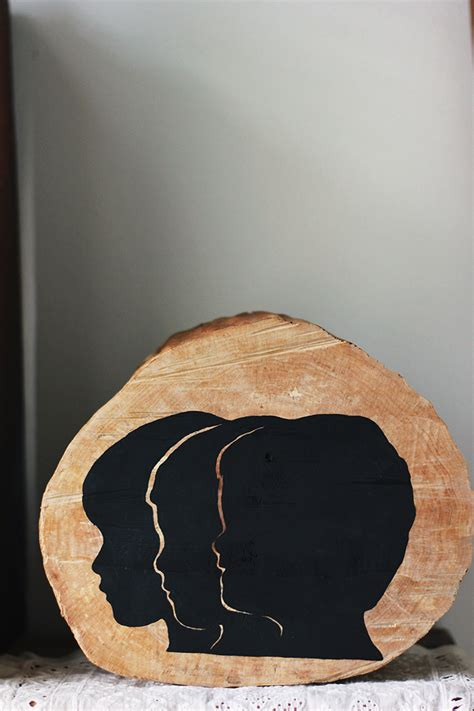 wooden silhouette decor  merrythought