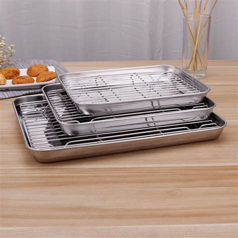 baking cooling rack stainless steel cookie oven safe dishwasher various sheets wings chicken