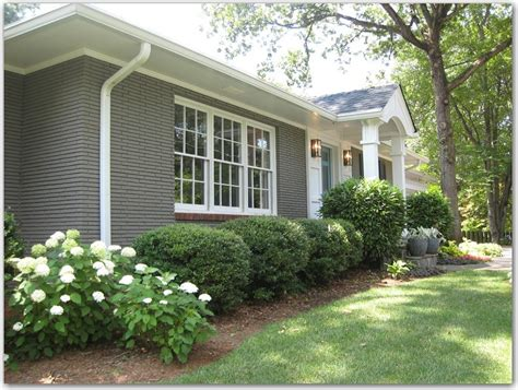grey painted brick ranch style search home