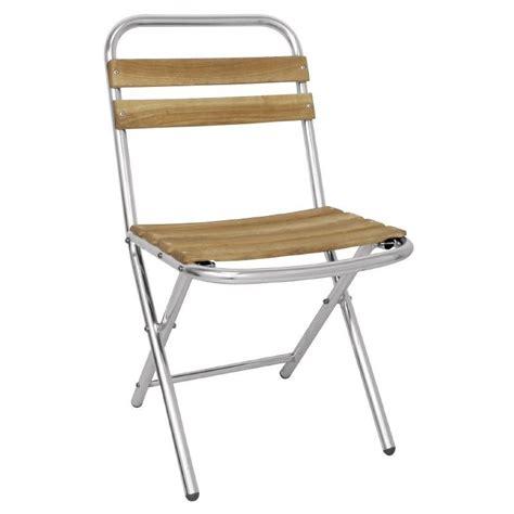 chaise terrasse chaise de terrasse aluminium et bois pliante cra gl980