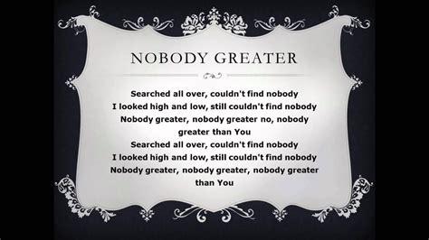 Nobody lyrics lyrics from the album. Nobody Greater by Vashawn Mitchell with Lyrics - YouTube