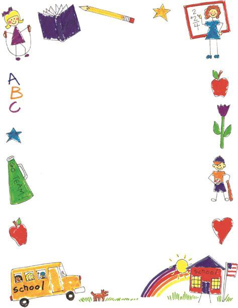 Free Printable School Borders Clip Art