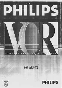 Philips Vcr Vr453 User Guide