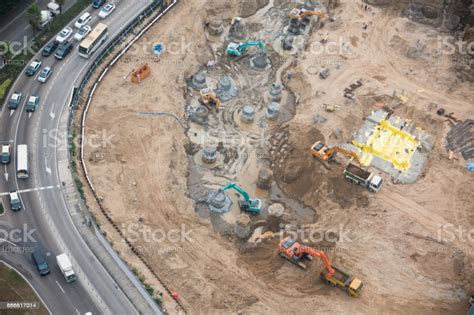 Aerial View Of Construction Site Stock Photo - Download ...