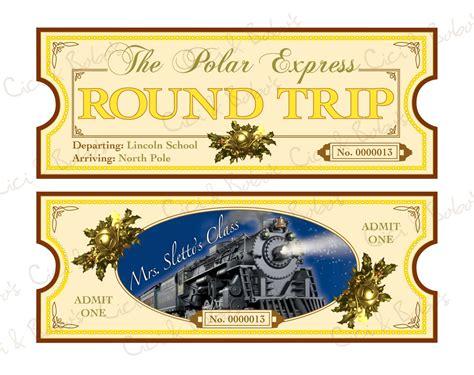 polar express theme diy printable ticket  cici