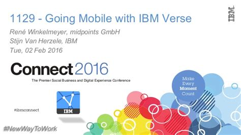 Going Mobile With Ibm Verse