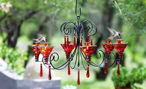 creative diy chandelier hummingbird feeder ideas
