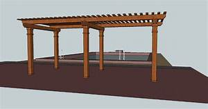 Pergola construction guide ~ San Plans