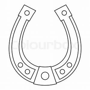 Horseshoe icon. Outline illustration of horseshoe vector ...