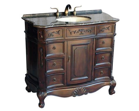 antique style single sink bathroom vanity model  mxc