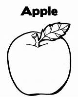Fruits Fruit Apple Coloring Pages Drawing Drawings Line Colouring Printable Apples Printables Clip Vegetables Piece Sheets Sheet Draw Children Getdrawings sketch template