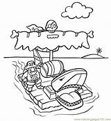 Raft Coloring Pages Printable Others Peoples sketch template