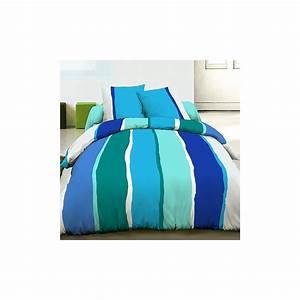 Housse De Couette 220x240 Pas Cher : parure de lit housse de couette 220x240 coton lilly bleu ~ Melissatoandfro.com Idées de Décoration