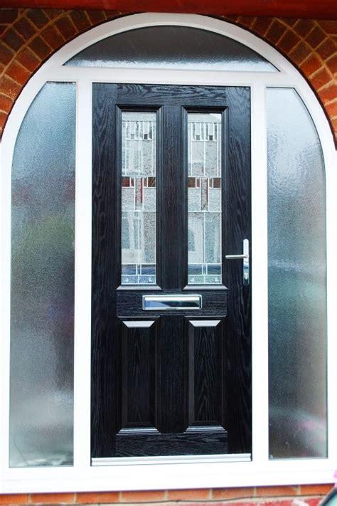 contemporary altmore composite door  black  zinc