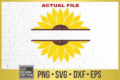 sunflower split monogram svg  monograms design bundles