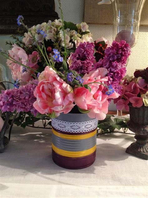 tin  craft ideas flower vases  plant pots
