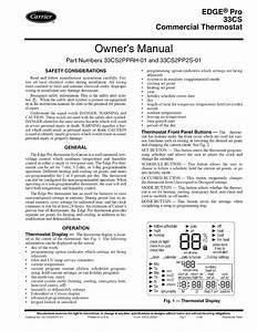 Carrier Edge Pro 33cs User Manual