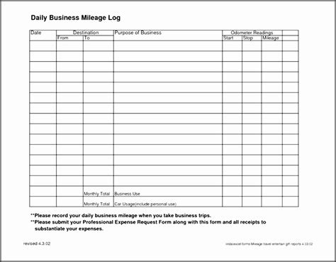 6 vehicle mileage log template in ms excel sletemplatess sletemplatess