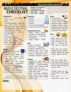 music festival checklist With music festival planning template