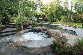 Design Landscape Design Ideas Tranquil Backyard Landscape Design Florida Pool Landscaping Ideas Home Design Ideas Pool Design Pool Landscaping Pools Backyard Landscape Outdoor Spaces Backyard