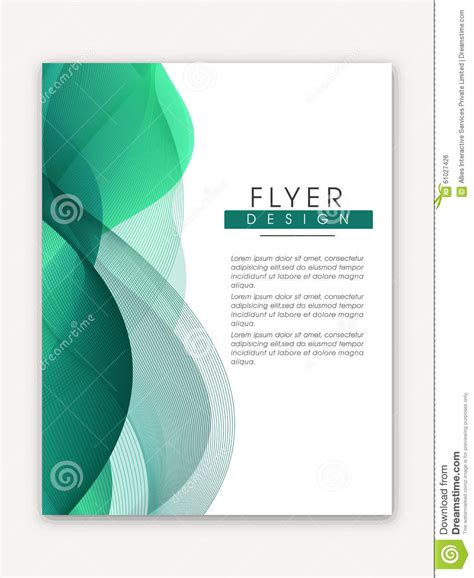 one page flyer template stylish business flyer or template stock photo image