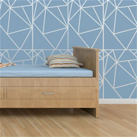 geometric wall stencil contemporary wall stencils