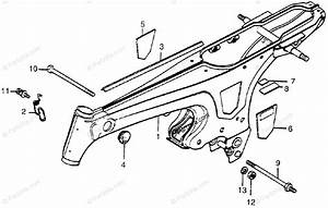 Honda Motorcycle 1982 Oem Parts Diagram For Frame