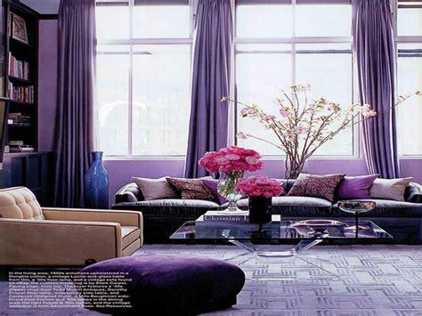 Interior Design Living Room Purple